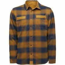 NEW!! 2020 Mens Flylow Sinclair Insulated Flannel Shirt-M-Rye/Midnight
