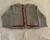 MONNALISA Made in Italy Angora blend cardigan Baby Girl 9m Small Fit (6-9M) NWT
