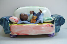 Heavy Ceramic toy decorative couch by Larry Baby On Cough Doll House Furniture