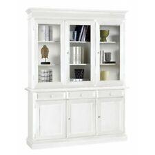 Glass Cabinet 3 Doors, White Matt CMS 156X42X205 H