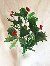 "17"" Holly Berry Bush Christmas Filler Greenery Silk Wedding Flowers Centerpieces"