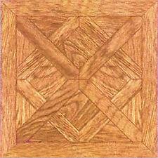 Wood Vinyl Floor Tile 20 Pcs Adhesive Kitchen Flooring - Actual 12'' x 12''