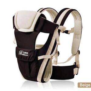 Baby Carrier Infant Wrap Adjustable Breathable Outdoor Pouch Kangaroo Cotton Bag
