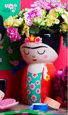 Retro Style Frida Kahlo Flower Bud Vase Colourful Planter Pot Bottle Venue Decor