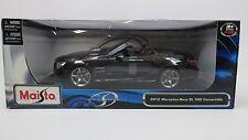 Maisto 2012 Mercedes Benz SL 500 Class Convertible 1:18 Diecast Black 31196