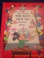 Vintage WALT DISNEY'S MICKEY MOUSE BIRTHDAY A BIG GOLDEN BOOK 1953 ( Beautiful )