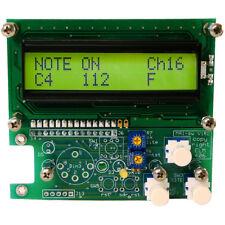 MIDI Analyzer | MIDI Decoder | PCB | View or Scroll any MIDI Message via LCD