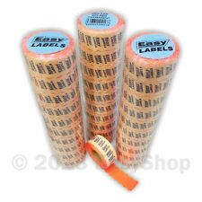 26 x 12mm Price Marking Gun Labels CT4 Motex Fluorescent Red Permanent Adhesive