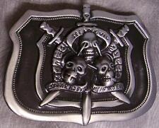 Pewter Belt Buckle novelty See Speak Hear no Evil NEW