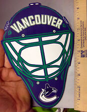Vancouver Canucks wood wall plaque Hockey Mask with logo, cool collectible!