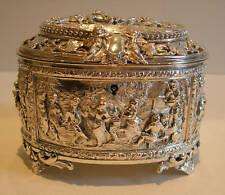 Fabulous Victorian English Electrotype Jewelry Box
