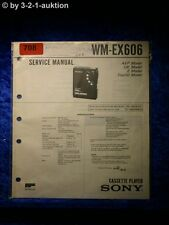 Sony Service Manual WM EX606 Cassette Player (#0708)