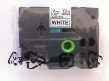 "Genuine Brother 1/2"" BLACK ON WHITE Label Tape fits PT-2700, PT-2730, PTD600"