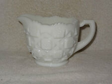 Westmoreland Thick White Milk Glass Decorative Pressed Glass Large Creamer- USA