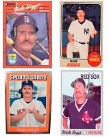(4) Wade Boggs Odd-Ball Trading Card Lot