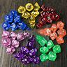 Tabletop 7pc Set Transparent Dungeons Dragons Dice D4/6/8/10/12//20 D&D Bag Gift