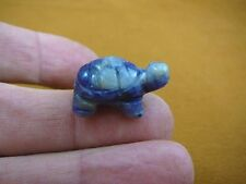 Y-TUR-LA-506) little blue TURTLE tortoise carving FIGURINE gemstone BABY turtles