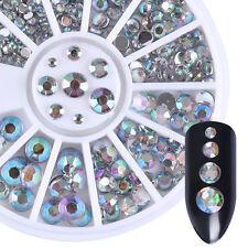 1Box 3D Acrylic Nail Art Tips Crystal Rhinestones DIY Decoration Wheel 2-5mm