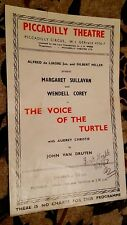 1947 Theatre Programme THE VOICE OF THE TURTLE - MARGARET SULLAVAN WENDELL COREY