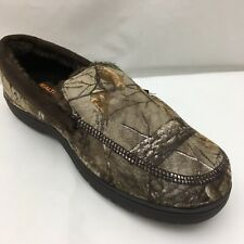 Realtree Xtra Print Men's Camouflage Moccasin Slippers Indoor Outdoor Sz M (8-9)