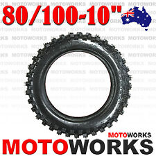 "80 / 100 - 10"" Inch Rear Tire 50cc 70cc 90cc 125cc PIT TRAIL Dirt Bike BIGFOOT"