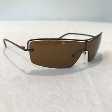 GUCCI SUNGLASSES Bronze Amber Visor Wrap GG2683/S Made in Italy AS NEW
