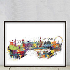 Londres, Impresora de póster de A2 de alta calidad en papel fotográfico 250gsm Mate Suave de Arte