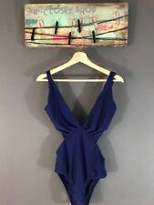 Lenny Niemeyer Slit Maillot Swimsuit One-Piece Berber Deep V-Neck Sz L NWT $208