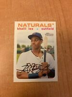 2020 Topps Heritage Minor League - Khalil Lee - #148 White Border Parallel /50