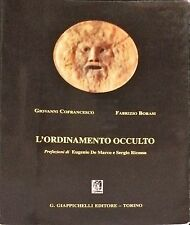 L'ORDINAMENTO OCCULTO - G. COFRANCESCO, F. BORASI - GIAPPICHELLI, 2002