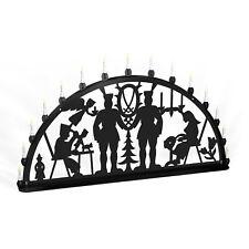 Light Arch Erzgebirge Metal XL Outdoor Black Holiday Lights Large