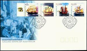 Maritime Heritage Sailing Ships of Australia1999 FDC First Day Cover