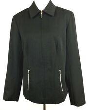 SPIEGEL Jacket Women Size 14 Black Long Sleeve Full Zip Lined Stretch