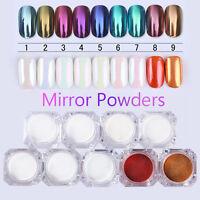1g Mirror Nail Glitter Powder Dust  Nail Art Chrome Pigment Decor Tips