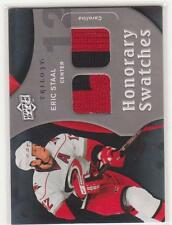 2009/10 UD Trilogy Honorary Swatches Eric Staal dual jersey Hurricanes