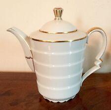 Vintage Rosenthal Art Deco Porcelain Tea Pot White & Gold Madeleine Bavaria