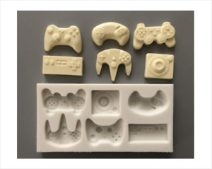 Large Silicone Game Controller Handset x6 Fondant Cake Mould Chocolate Baking
