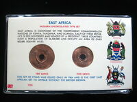 East Africa 5 & 10 Cents 1964 Gem BU Kenya Tanzania Uganda 92# World Money Coin