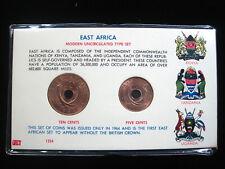 East Africa 5 & 10 Cents 1964 Gem BU Kenya Tanzania Uganda 92# World Money Coin