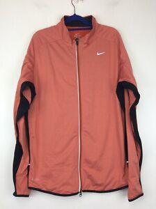 Nike Dri-FIt Therma Element Full Zip Running Training Jacket Orange XL EUC