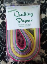 """Nip Sealed Quillin Paper Variety Multi Color Lake City 5/8"""" 25 color 100pc #356"""