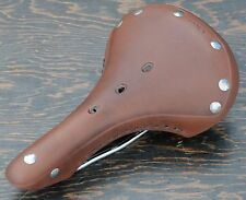 Brown Leather Fixed Gear Bicycle SADDLE Vintage Schwinn Track Road Bike Seat