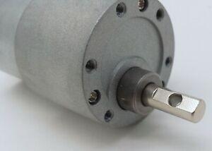 High Torque 37mm 12V DC Gear Motor 12RPM w/6mm cross drilled output shaft 8801