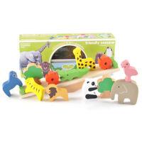 AM_ Wooden Animal Moon Blocks Balancing Stacking Game Educational Kids Toy Xmas