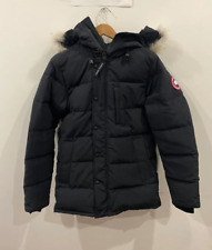 Canada Goose Men's Black Carson Down Hooded Parka Jacket Coat Size S
