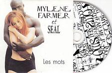 CD CARTONNE CARDSLEEVE 2T MYLENE FARMER & SEAL LES MOTS TBE