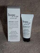 Philosophy HOPE IN JAR Oil Free Gel Moisturizer Normal To Oily Skin .25 oz New