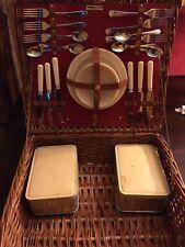 Vintage Abercrombie & Fitch Picnic Basket