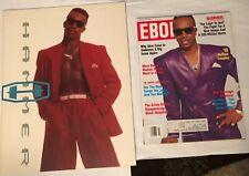 Lot of 2 Mc Hammer 1992 Concert Tour Program and March 1992 Ebony Magazine, Look