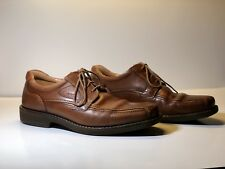 Mens Ecco 44 (11) Brown Leather Shoes Lace Ups Made In Spain